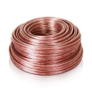 Auna reproduktorový kabel 4 x 2,5 mm², transparentní, 25m