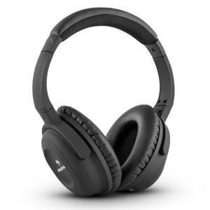 Auna ANC-10 sluchátka, tlumení hluku, pevný obal, adaptér