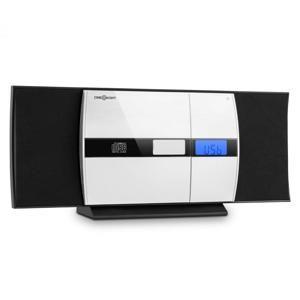 OneConcept V-15, černý, stereo systém, CD, USB, MP3, FM, AUX, budík