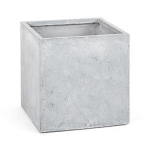 Blumfeldt Solidflor, světle šedý, květináč, nádoba na květiny, 50x50x50 cm, fiberton