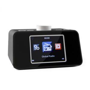 """Auna i-snooze, černé, internetové rádio, rádiobudík, WLAN, USB, 3,2 """"TFT barevný displej"""