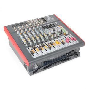 Power Dynamics PDM-S803 aktivní 8kanálový mixážní pult USB DSP MP3 AUX EQ FX