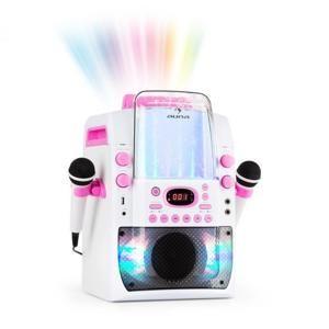 Auna Kara Liquida BT karaoke zařízení, světelná show, vodní fontána, bluetooth, bílá/růžová barva