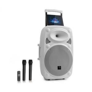 """Auna Streetstar 12, mobilní PA systém, 12"""" (30.5 cm), 2 x UHF mikrofon, max. 800 W, bílý"""