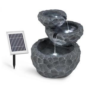 Blumfeldt Murach, solární kaskádová fontána, akumulátorový provoz, 2 W, solární panel, 3x LED