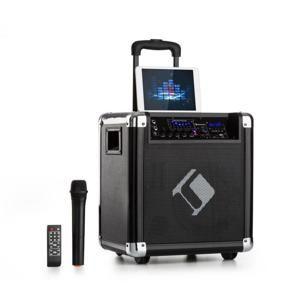 """Auna Moving 80, PA systém, 8"""" woofer, 35/100 W max., VHF mikrofon, USB, SD, BT, AUX, přenosný"""