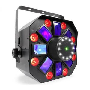 Beamz MULTIACIS IV LED DERBY, LASER, MYŠTĚNÍ STROBE DMX- / STAND-SINGLE REŽIM