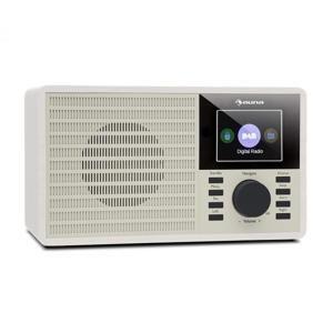 """Auna DR-160 BT, DAB+/FM rádio, USB, AUX, 2.4"""" TFT displej, dálkové ovládání, bílé"""