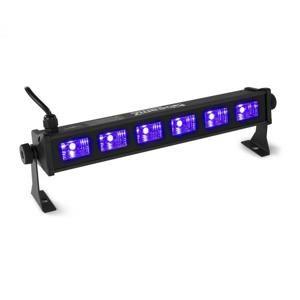 Beamz BUV63, LED světelná rampa, 30 W, 6 x 3 W UV LED diody, černá