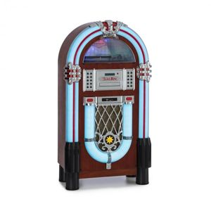 Auna Graceland DAB, jukebox, BT, CD, vinyl, DAB+/FM, USB, SD, AUX vstup, LED světlo