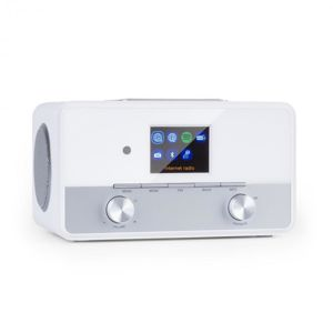 Auna Connect 150 SE, 2.1 internetové rádio, DAB / DAB+ / PLL-FM, BT, 2,8 '' TFT displej, bílé