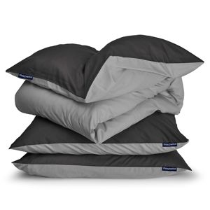 Sleepwise Soft Wonder-Edition, povlečení, 155x200cm, tmavě šedá/světle šedá