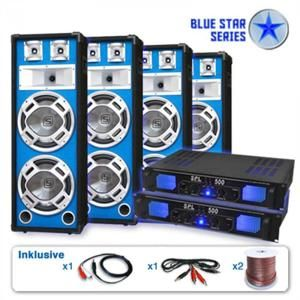"Electronic-Star PA set Blue Star Series ""Bassveteran Quadro"" 3200 W"