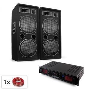 "Electronic-Star PA Set ""Malone SPL Bluetooth MP3"" pár 2x12 ""reproduktor & zesilovač 1500W"