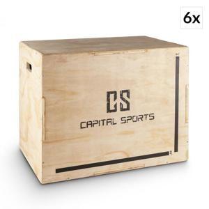 """Capital Sports Shineater BL, set plyoboxů, boxy na skákání, 3 výšky 20 """", 24"""", 30 """", dřevo"""