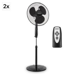 OneConcept Black Blizzard RC 2G, stojící ventilátor, 41 cm, 50 W, kulatý stojan