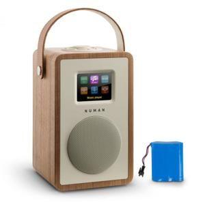 Numan Mini Two Design internetové rádio Wi-Fi DLNA bluetooth FM ořech včetně nabíjecí baterie