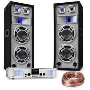 "Electronic-Star ""White Noise"", DJ PA set, 2 x 500W zesilovač, 600W reproduktory, reproduktorový kabel"