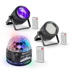 Beamz PLS10, sada V4, jellyball, PLS15 LED stroboskop, PLS30 LED reflektor