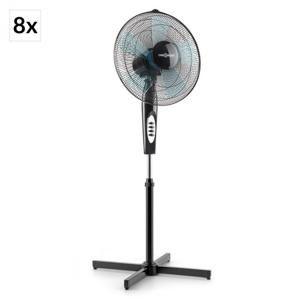 OneConcept Black Blizzard 2G, černý, stojící ventilátor, sada 8 ks, 41 cm (16 ''), 50 W